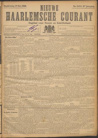 Nieuwe Haarlemsche Courant 1906-11-29