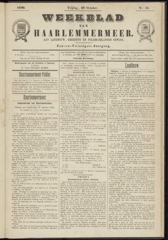 Weekblad van Haarlemmermeer 1880-10-29