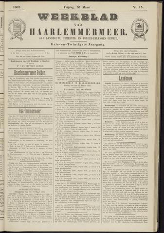 Weekblad van Haarlemmermeer 1882-03-31