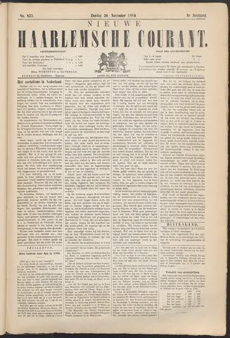 Nieuwe Haarlemsche Courant 1884-11-30