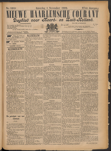 Nieuwe Haarlemsche Courant 1902-11-01