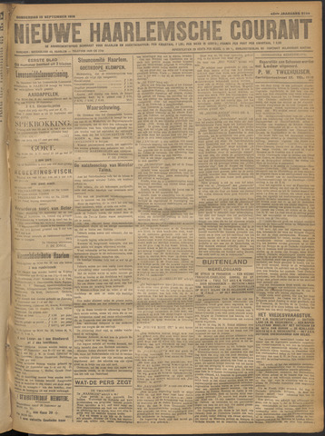 Nieuwe Haarlemsche Courant 1918-09-19