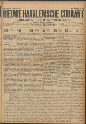 Nieuwe Haarlemsche Courant 1909-02-20