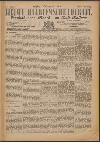 Nieuwe Haarlemsche Courant 1905-02-17