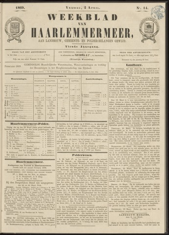 Weekblad van Haarlemmermeer 1869-04-02