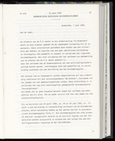 Raadsnotulen Heemstede 1983-06-30