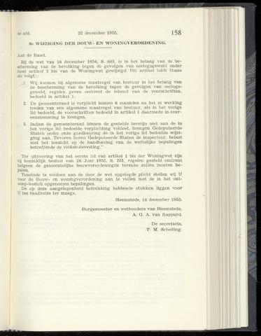 Raadsnotulen Heemstede 1955-12-22