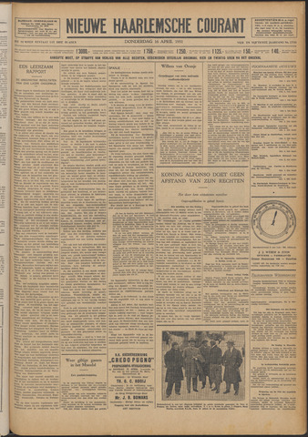 Nieuwe Haarlemsche Courant 1931-04-16