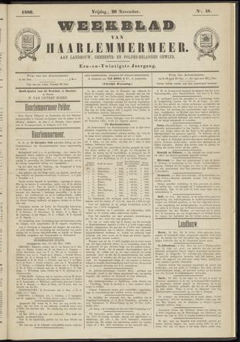 Weekblad van Haarlemmermeer 1880-11-26