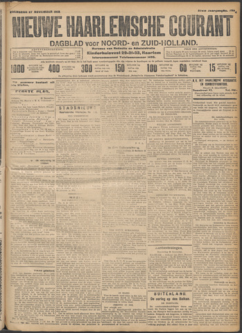 Nieuwe Haarlemsche Courant 1912-11-27