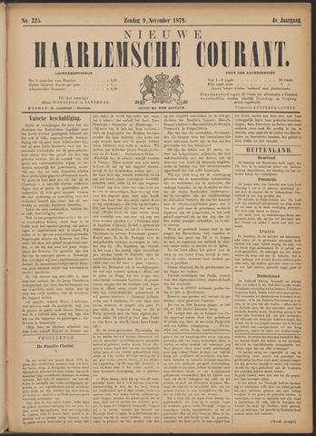 Nieuwe Haarlemsche Courant 1879-11-09