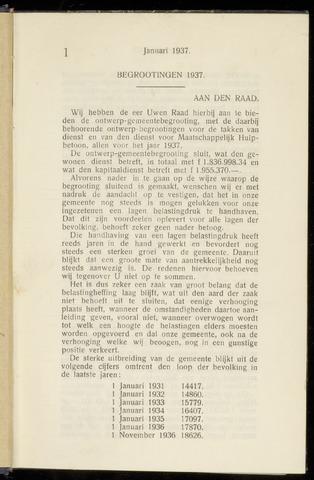 Raadsnotulen Heemstede 1937-01-29