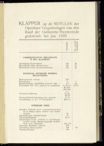 Raadsnotulen Heemstede 1939