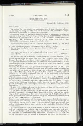 Raadsnotulen Heemstede 1968-12-13