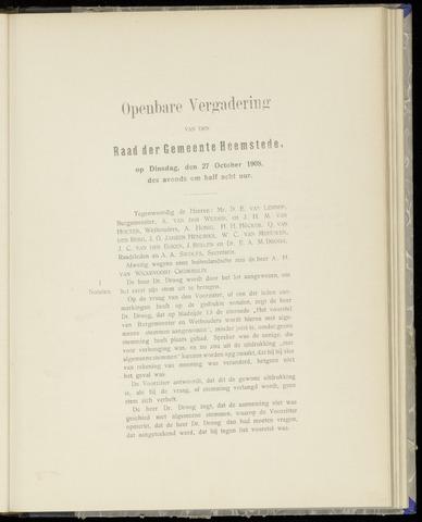 Raadsnotulen Heemstede 1908-10-27