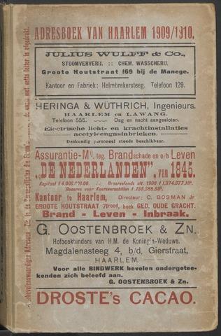 Adresboeken Haarlem 1909-09-01