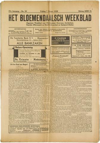 Het Bloemendaalsch Weekblad 1938