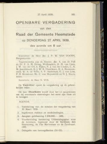Raadsnotulen Heemstede 1939-04-27