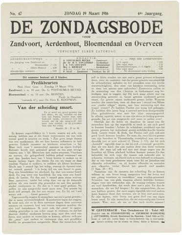 De Zondagsbode voor Zandvoort en Aerdenhout 1916-03-19
