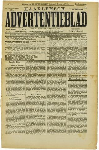 Haarlemsch Advertentieblad 1888-02-15