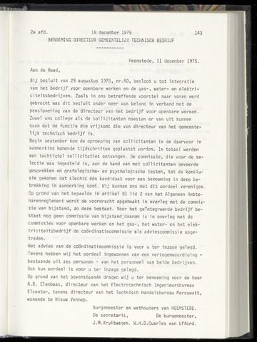 Raadsnotulen Heemstede 1975-12-18