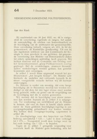 Raadsnotulen Heemstede 1933-12-07