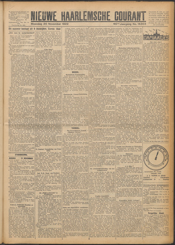 Nieuwe Haarlemsche Courant 1922-11-20