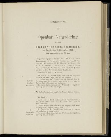 Raadsnotulen Heemstede 1917-12-13
