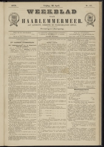 Weekblad van Haarlemmermeer 1879-04-25