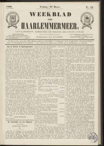 Weekblad van Haarlemmermeer 1860-03-16