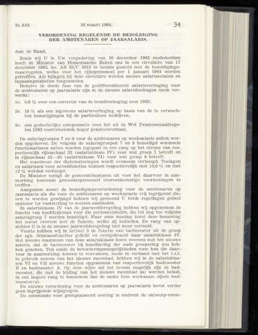 Raadsnotulen Heemstede 1964-03-26