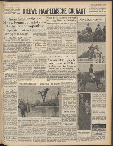 Nieuwe Haarlemsche Courant 1954-09-20
