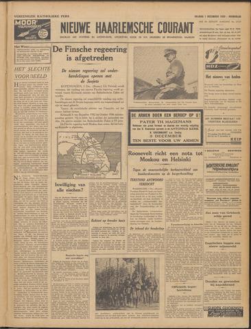 Nieuwe Haarlemsche Courant 1939-12-01