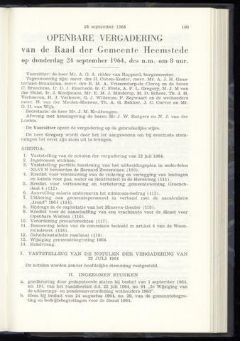 Raadsnotulen Heemstede 1964-09-24