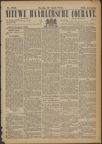 Nieuwe Haarlemsche Courant 1894-04-22