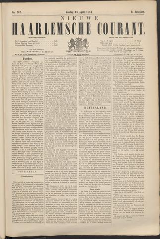 Nieuwe Haarlemsche Courant 1884-04-13