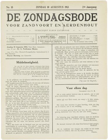 De Zondagsbode voor Zandvoort en Aerdenhout 1913-08-10