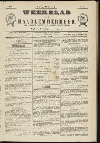Weekblad van Haarlemmermeer 1884-01-18