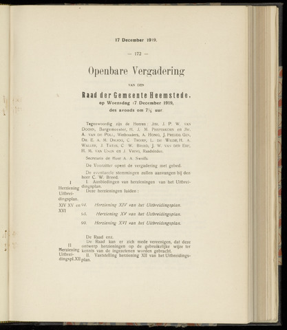 Raadsnotulen Heemstede 1919-12-17