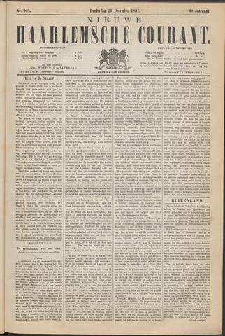 Nieuwe Haarlemsche Courant 1881-12-29