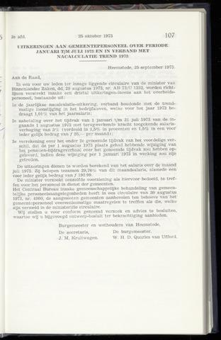 Raadsnotulen Heemstede 1973-10-25