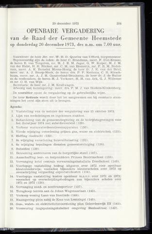 Raadsnotulen Heemstede 1973-12-20