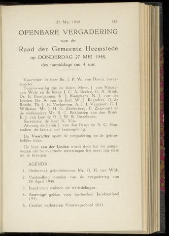 Raadsnotulen Heemstede 1948-05-27