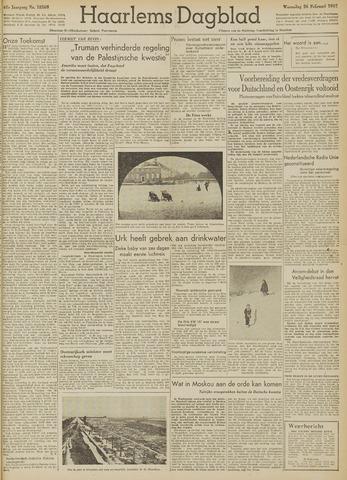 Haarlem's Dagblad 1947-02-26