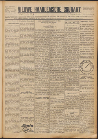 Nieuwe Haarlemsche Courant 1927-11-25