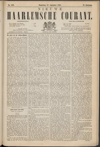 Nieuwe Haarlemsche Courant 1881-09-22