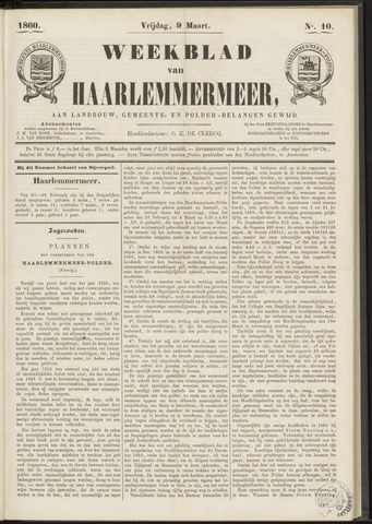 Weekblad van Haarlemmermeer 1860-03-09