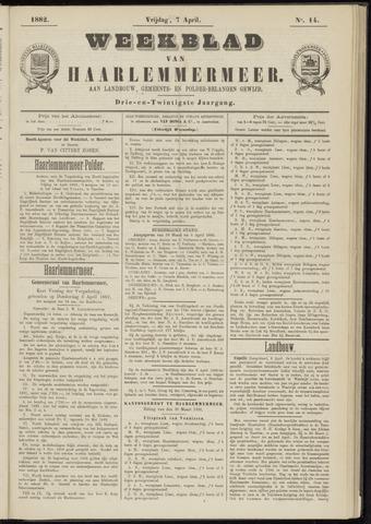 Weekblad van Haarlemmermeer 1882-04-07