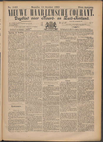 Nieuwe Haarlemsche Courant 1903-10-19