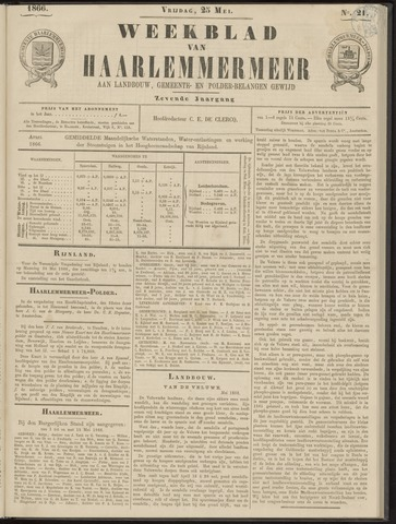 Weekblad van Haarlemmermeer 1866-05-25